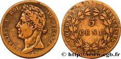 COLONIE FRANCESI - Carlo X, per Martinica e Guadalupa 5 CentimesCharles X 1827 La Rochelle - A q.BB