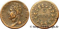 COLONIES FRANÇAISES - Charles X, pour la Guyane 5 CentimesCharles X 1830 Paris - A TTB