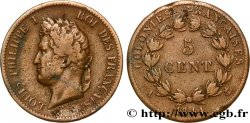 FRENCH COLONIES - Louis-Philippe for Guadeloupe 5 Centimes Louis Philippe Ier 1841 Paris - A VF