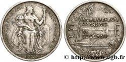 POLYNÉSIE FRANÇAISE - Océanie française 5 Francs Établissements Français de l'Océanie 1952 Paris TTB