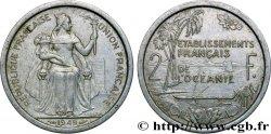 POLYNÉSIE FRANÇAISE - Océanie française 2 Francs Union Française 1949 Paris TTB