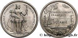POLYNÉSIE FRANÇAISE - Océanie française 1 Franc Union Française 1949 Paris SUP