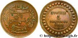 TUNEZ - Protectorado Frances 5 Centimes AH1336 1917 Paris MBC