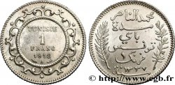 TUNISIA - French protectorate 1 Franc AH 1337 1918 Paris AU