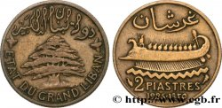 LIBANON 2 Piastres État du Grand Liban 1925 Paris