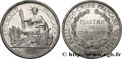 59e2e5ad50 INDOCINA FRANCESE 1 Piastre de Commerce 1908 Paris fco_401512 Monete ...