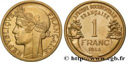 FRENCH WEST AFRICA 1 Franc Morlon 1944 Londres
