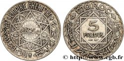 MOROCCO - FRENCH PROTECTORATE 5 Francs AH1352 1933 Paris