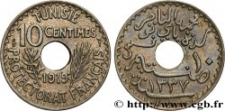 TUNISIA - French protectorate 10 Centimes AH 1337 1919 Paris