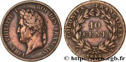 FRENCH COLONIES - Louis-Philippe, for Marquesas Islands 10 Centimes 1844 Paris