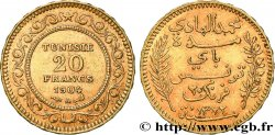 INVESTMENT GOLD 20 Francs or Bey Mohamed El Hadi AH 1321 1904 Paris