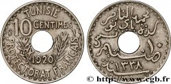 TUNISIA - FRENCH PROTECTORATE 10 Centimes AH1338 1920 Paris