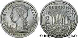 REUNION ISLAND 2 Francs 1948 Paris
