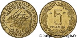 FRENCH EQUATORIAL AFRICA - CAMEROON 5 Francs 1958 Paris