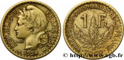 TOGO - FRENCH MANDATE TERRITORIES 1 Franc 1924 Paris