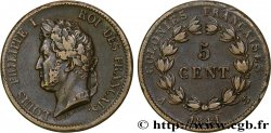 FRENCH COLONIES - Louis-Philippe for Guadeloupe 5 Centimes Louis Philippe Ier 1841 Paris - A