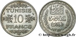 TUNISIA - FRENCH PROTECTORATE 10 Francs au nom du Bey Ahmed datée 1353 1934 Paris