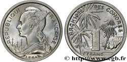 COMOROS  1 Franc 1964 Paris