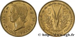 AFRICA OCCIDENTALE FRANCESA  5 Francs 1956 Paris