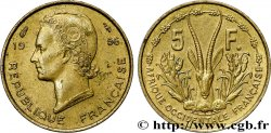 FRENCH WEST AFRICA 5 Francs 1956 Paris