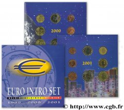 BELGIUM COFFRET INTRODUCTION DE L'EURO EN BELGIQUE (1999, 2000, 2001) n.d. Bruxelles