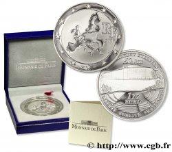 FRANCE Belle Épreuve 1 Euro 1/2 EUROPEAN MINTMARK - 50 ANS DU PARLEMENT EUROPÉEN 2008 BE