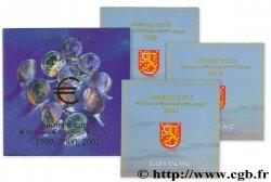 FINLANDE COFFRET INTRODUCTION DE L'EURO EN FINLANDE (1999, 2000, 2001) n.d. BU