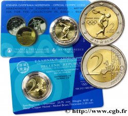 GREECE Coin-Card 2 Euro JEUX OLYMPIQUES D ATHÈNES 2004 2004 Athènes