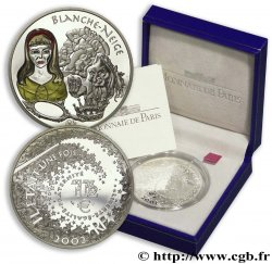 FRANCIA Belle Épreuve 1 Euro 1/2 BLANCHE-NEIGE 2002 BE