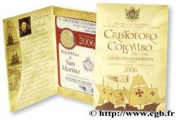 SAN MARINO 2 Euro 500ème ANNIVERSAIRE DE LA MORT DE CHRISTOPHE COLOMB 2006 BU