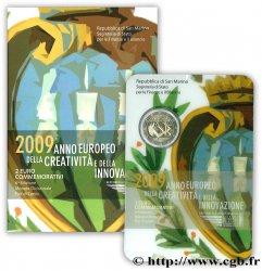 SAN MARINO 2 Euro ANNÉE EUROPÉENNE DE LA CRÉATIVITÉ ET DE LINNOVATION 2009 BU