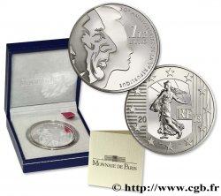 FRANCIA Belle Épreuve 1 Euro 1/2 LA SEMEUSE - CINQUANTIÈME ANNIVERSAIRE DE LA Ve RÉPUBLIQUE 2008 Prueba