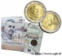 ITALY Blister 2 Euro GIOVANNI PASCOLI 2012