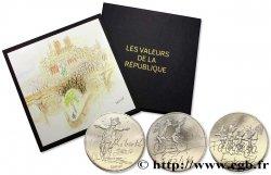 """FRANCE Lot 6 x 10 Euro """"LES VALEURS DE LA REPUBLIQUE par SEMPÉ"""" (Printemps-été) + coffret Monnaie de Paris 2014"""