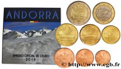 ANDORRA (PRINCIPALITY) SÉRIE Euro BRILLANT UNIVERSEL 2014 Brilliant Uncirculated