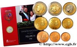 SPANIEN SÉRIE Euro BRILLANT UNIVERSEL (9 pièces) - FELIPE VI 2015