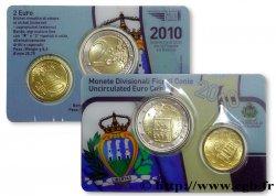 SAN MARINO MINI-SÉRIE Euro BRILLANT UNIVERSEL 10 Cent et 2 Euro 2010