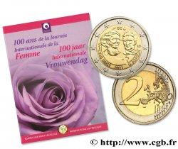 BELGIEN Coin-Card 2 Euro 100 ANS DE LA JOURNÉE INTERNATIONALE DE LA FEMME 2011