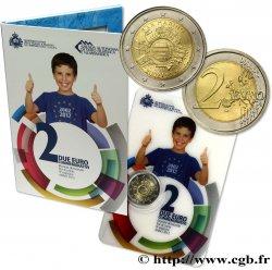 SAINT-MARIN Blister 2 Euro 10 ANS DES PIÈCES ET BILLETS EN EUROS 2012
