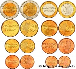EUROPEAN CENTRAL BANK Série complète Training tokens - 1 cent à 2 Euro n.d.