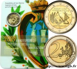 SAINT-MARIN 2 Euro ANNÉE EUROPÉENNE DE LA CRÉATIVITÉ ET DE LINNOVATION 2009 BU