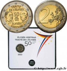 FRANCE Coin-Card 2 Euro 50 ANS DU TRAITÉ DE LÉLYSÉE 2013 BU