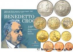 ITALIE SÉRIE Euro BRILLANT UNIVERSEL - BENEDETTO CROCE (10 pièces) 2016 BU