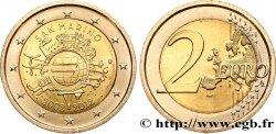 SAINT-MARIN Blister 2 Euro 10 ANS DES PIÈCES ET BILLETS EN EUROS 2012 SPL