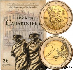 ITALY Blister Brillant Universel 2 Euro ARME DES CARABINIERS 2014 Rome