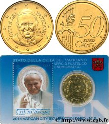 VATICAN Coin-Card (n°5) 50 Cent CANONISATION DU PAPE JEAN-PAUL II