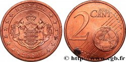 MONACO 2 Cent ARMOIRIES 2001 Pessac