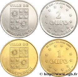 FRANCE Lot 1 et 2 Euro de Marly-le-Roi (30 mai - 14 juin 1998) 1998