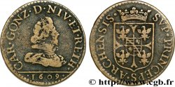 ARDENNES - PRINCIPAUTY OF ARCHES-CHARLEVILLE - CHARLES I OF GONZAGUE Liard, type 1a q.BB