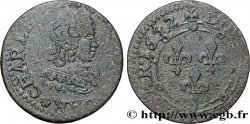 ARDENNES - PRINCIPAUTY OF ARCHES-CHARLEVILLE - CHARLES II OF GONZAGUE Double tournois, type 23 F